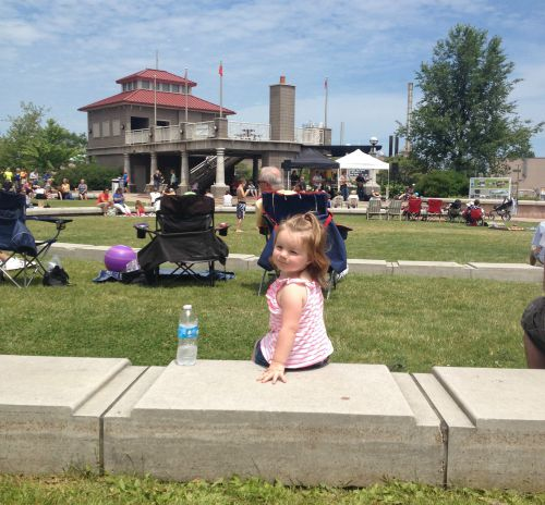 Addy enjoying a summer concert