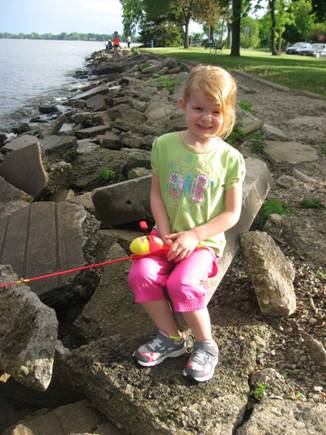 McKenzie Relaxing and Fishing