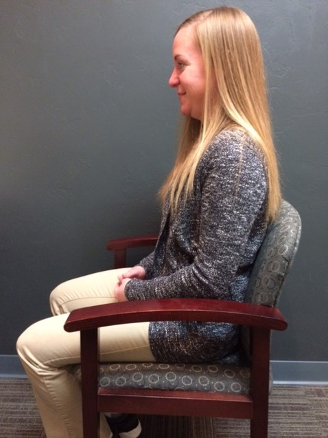 back chair sitting